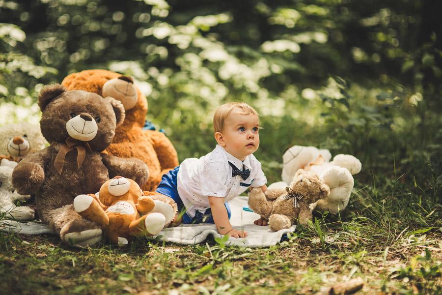Sesja roczkowa Wiktora | fotografia dziecięca Kielce